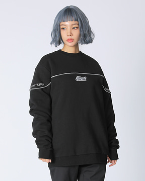 BLOCK CREWNECK _ BLACK