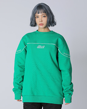 BLOCK CREWNECK _ GREEN