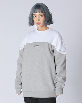 BLOCK CREWNECK _WHITE