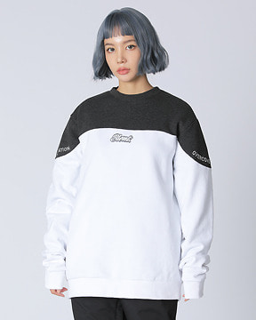 BLOCK CREWNECK _ GREY